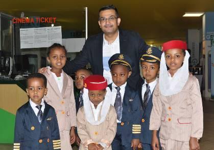 Emirates entertains Ethiopian families with movie screening