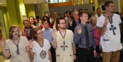 New Peace Corps Volunteers Sworn in at U.S. Embassy in Addis Ababa