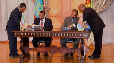 Eritrea and Ethiopia Sign Peace, friendship declaration