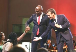 French President Macron meets 2000 young African entrepreneurs