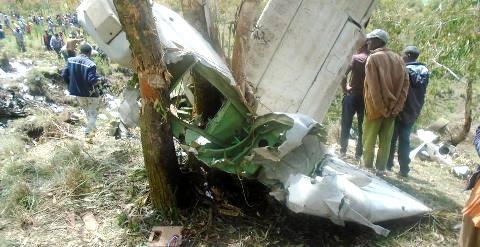 Ethiopia military plane crash kills 17 passengers