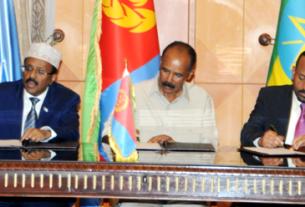 Ethiopia,Eritrea, Somalia presidents sign cooperation agreement