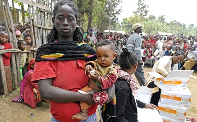 WFP provides nutritious food to Ethiopian families fleeing violence