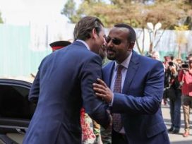 Austria Chancellor arrives Addis Ababa