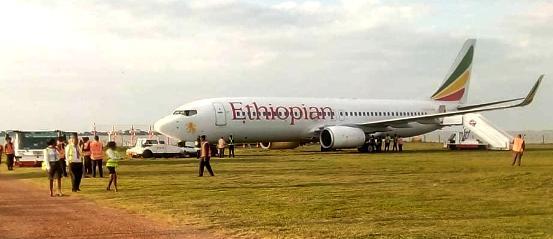 Ethiopian Airlines crash lands in Entebbe