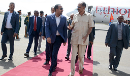 Ethiopia Prime Minister arrives Asmara