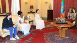 Ethiopia President meets Hollywood Actress Angelina Jolie