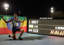 Letesenbet smashes 5,000 meters world record