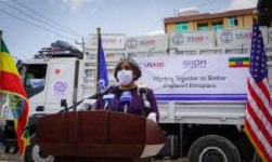 U.S delivers emergency shelter for Ethiopians displaced in Tigray