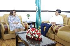 State Minister Ambassador Birtukan bids farewell to departing Ambassador