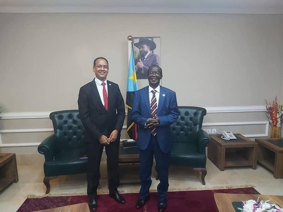 Ambassador Nebil Mahadi meets Vice President James Wani