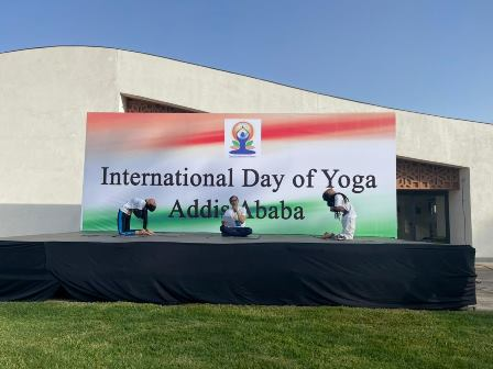 International Day of Yoga 2021 celebrations was held in Addis Ababa