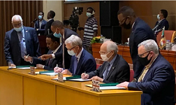 Witnessing the Juba peace agreement: troika statement
