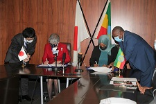 Ethiopia signs grant agreement with Japan
