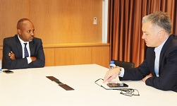 Safaricom CEO meets Ethiopian official