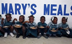 Mary's Meals feeds two million children in 19 countries